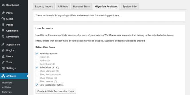 Tools - Migration Assistant
