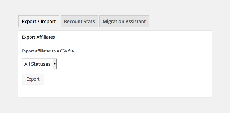 Exporting affiliate data as a CSV file in AffiliateWP