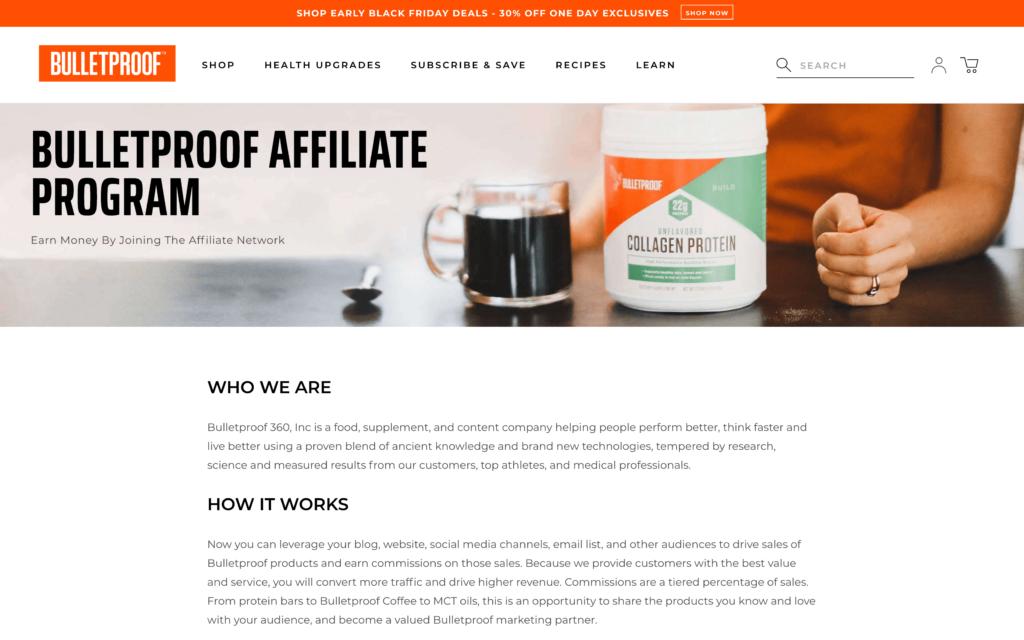 Bulletproof affiliate program