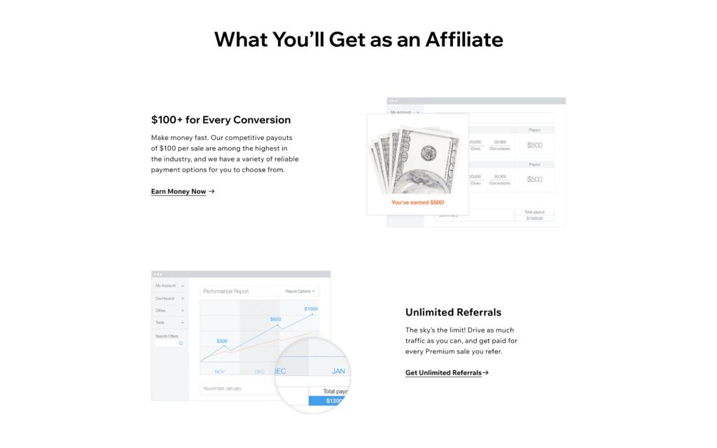 Wix affiliate program