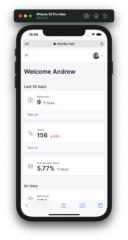Screenshot - Affiliate Portal: Dashboard on mobile